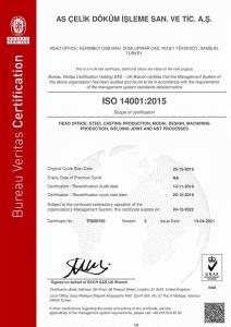 ASCELIK ISO14001 Bureau Veritas